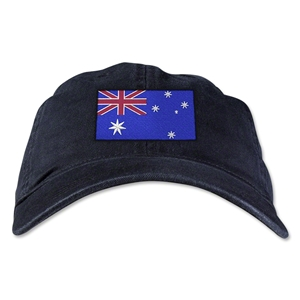 Australia Unstructured Adjustable Cap (Black)