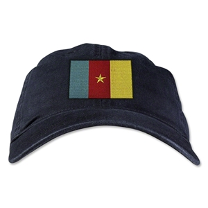 Cameroon Unstructured Adjustable Cap (Black)