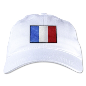 France Unstructured Adjustable Cap (White)