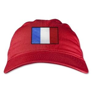 France Unstructured Adjustable Cap (Red)