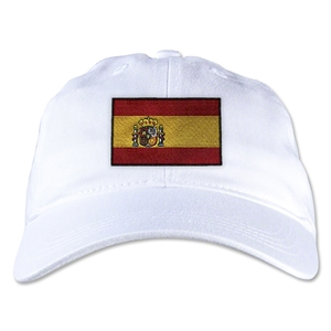 Spain Unstructured Adjustable Cap (White)