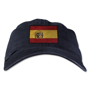 Spain Unstructured Adjustable Cap (Black)