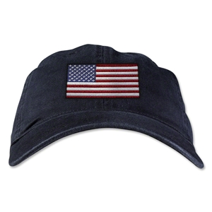 USA Unstructured Adjustable Cap (Black)
