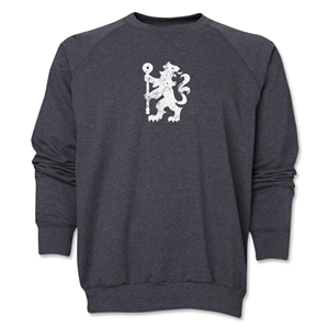 Chelsea Distressed Lion Crewneck Fleece (Dark Gray)