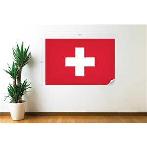 Switzerland Flag Wall Decal