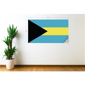 Bahamas Flag Wall Decal