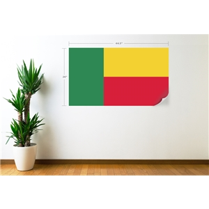 Benin Flag Wall Decal