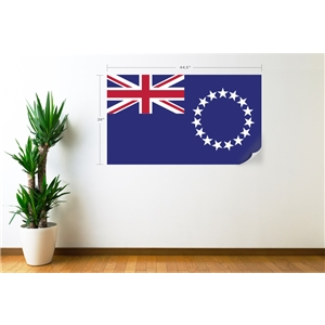 Cook Islands Flag Wall Decal