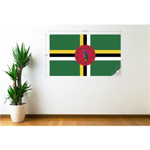 Dominica Flag Wall Decal