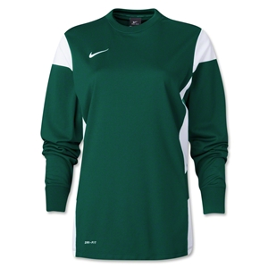 Nike Women's Long Sleeve Academy 14 Midlayer (Green/Wht)