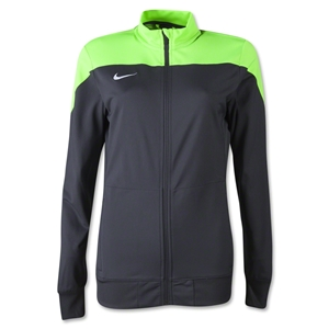 Nike Women's Squad 14 Sideline Knit Jacket (Gray/Green)