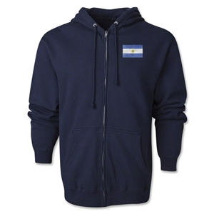 Argentina Flag Full Zip Hooded Fleece (Navy)