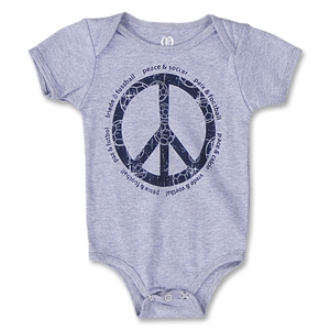 Objectivo Peace Sign Soccer LIngo Infant Onesie (Gray)