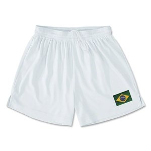 Brazil Team Soccer Shorts (White)