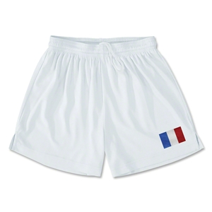 France Team Soccer Shorts (White)