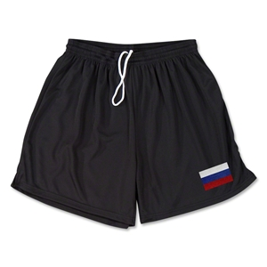 Russia Team Soccer Shorts (Black)