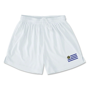 Uruguay Team Soccer Shorts (White)