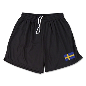 Sweden Team Soccer Shorts (Black)