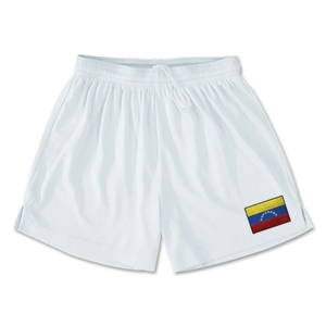 Venezuela Team Soccer Shorts (White)