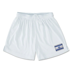 Israel Team Soccer Shorts (White)