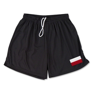 Poland Team Soccer Shorts (Black)