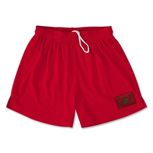 Morocco Team Soccer Shorts (Red)