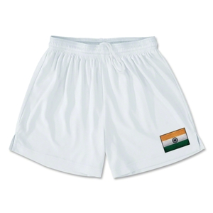 India Team Soccer Shorts (White)