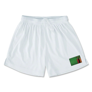 Zambia Team Soccer Shorts (White)