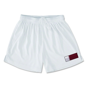 Qatar Team Soccer Shorts (White)
