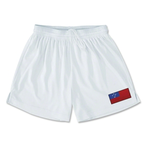 Samoa Team Soccer Shorts (White)