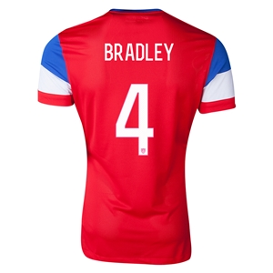 USA 14/15 BRADLEY Authentic Away Soccer Jersey