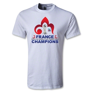 France FIFA U-20 World Cup 2013 Winners T-Shirt (White)
