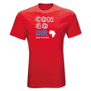 Congo DR Country T-Shirt (Red)