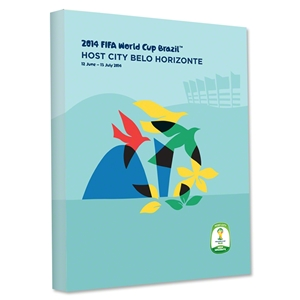 Belo Horizonte 2014 FIFA World Cup Brazil Host City Poster Stretched Canvas