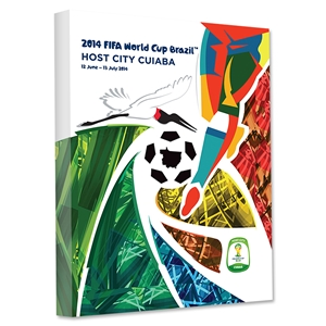 Cuiaba 2014 FIFA World Cup Brazil Host City Poster Stretched Canvas