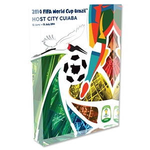 Cuiaba 2014 FIFA World Cup Brazil Host City Poster Acrylic Block Display