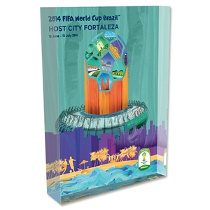 Fortaleza 2014 FIFA World Cup Brazil Host City Poster Acrylic Block Display