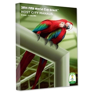 Manaus 2014 FIFA World Cup Brazil Host City Poster Stretched Canvas