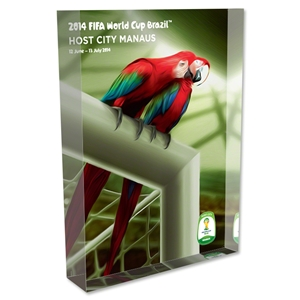 Manaus 2014 FIFA World Cup Brazil Host City Poster Acrylic Block Display