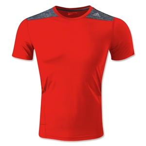 adidas TechFit Fitted T-Shirt (Red)