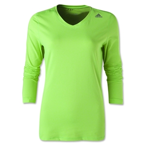 adidas Techfit Long Sleeve T-Shirt (Neon Green)