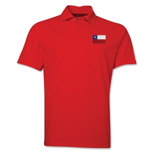 Chile Flag Soccer Polo (Red)