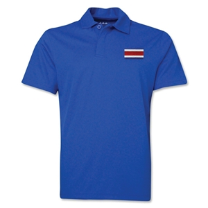 Costa Rica Flag Soccer Polo (Royal)