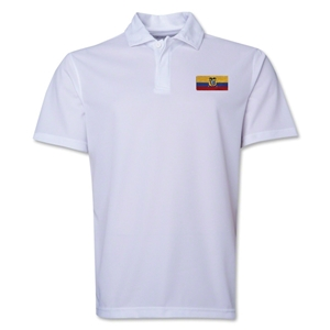 Ecuador Flag Soccer Polo (White)