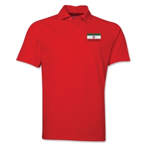 Iran Flag Soccer Polo (Red)