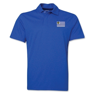 Uruguay Flag Soccer Polo (Royal)