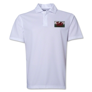 Wales Flag Soccer Polo (White)