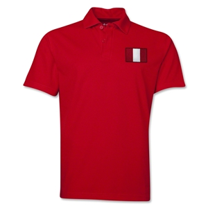Peru Flag Soccer Polo (Red)