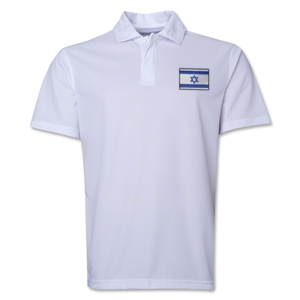 Israel Flag Soccer Polo (White)