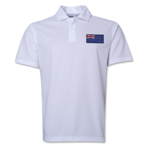 New Zealand Flag Soccer Polo (White)